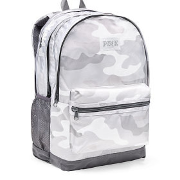 d6dbbe5c942 PINK BY VS WHITE CAMO CAMPUS BACKPACK NWT